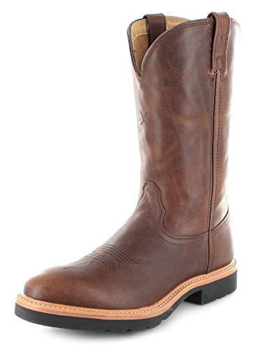 Twisted X Boots Damen Cowboy Stiefel 1736 Cowboy Work Lederstiefel Westernreitstiefel Braun 41 EU