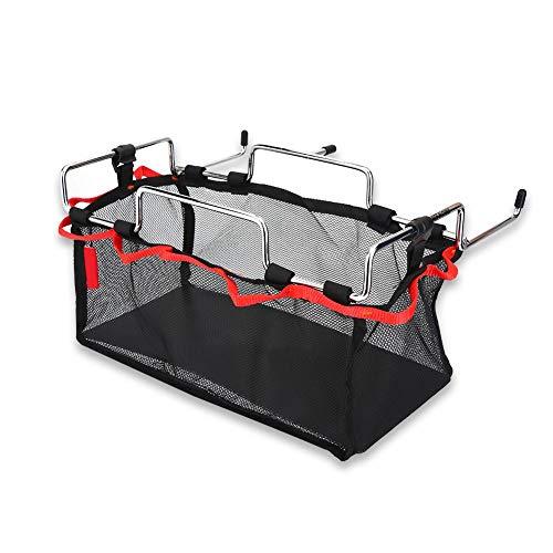 Cesta de malla, soporte de metal plegable Soporte de utensilios de cocina Herramienta de almacenamiento de cocina para barbacoa Picnic Camping Uso al aire libre(S)