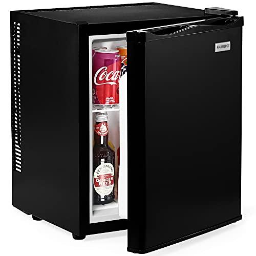 ANJI DEPOT Mini Kühlschrank, 28/32/40 Liter Fridge mit Kühl- und 220 Volt Steckdose für Autos, Büros und Schlafsäle (40L)