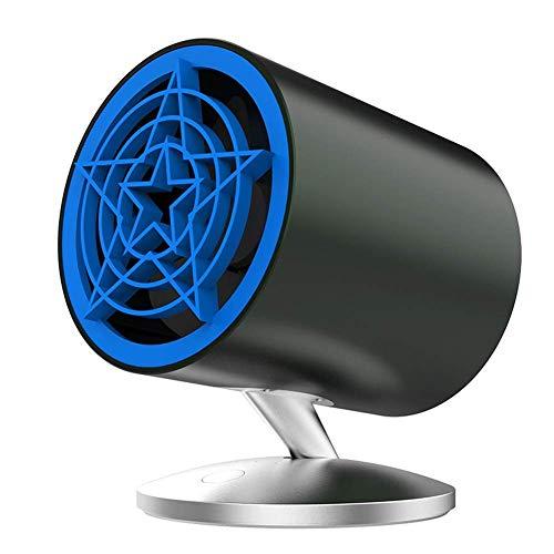 DBSCD Kleiner persönlicher USB-Lüfter, tragbarer Reise-Mini-Lüfter-Camping, USB-Handheld-Lüfter, internes blaues und seitliches Licht, 2 Geschwindigkeiten, leise für Zuhause und Büro