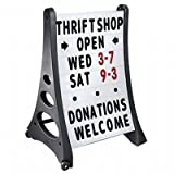 SmartSign A Frame Sign, Sidewalk Sign and Letter Kit, 42 x 29 Inches