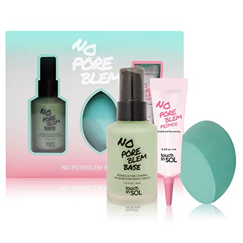 TOUCH IN SOL No Pore Blem Primer, 1.01 fl.oz(30ml) 1 Pack - Face Makeup Primer, Big Pores Perfect Cover, Skin Flawless and Glowing, Instantly Smoothes Lines, Long Lasting Makeup's Staying