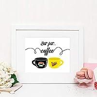 KDSMFAしかし、最初のコーヒーポスターセンターと絵のキャンバスの絵画プリントコーヒーの装飾抽象芸術の絵画プリントポスター/ 50x70cm(フレームなし)