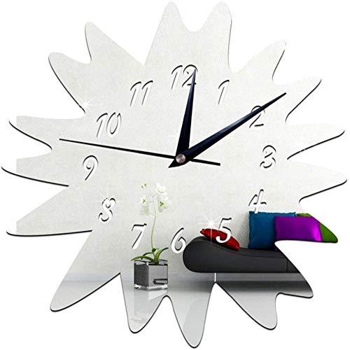 Orologio da parete Clode 40x40cm Orologio da parete 3D fai da te specchio girasole orologio da parete decorazione set adesivi effetto specchio decalcomania vetro acrilico decorazione rimovibile casa