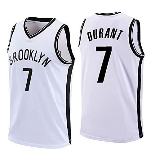 GQTYBZ Camiseta de Baloncesto de la NBA, Brooklyn Nets # 7 Kevin Durant Uniforme de Aficionado Al Baloncesto Camiseta con Chaleco De Tela Transpirable Fresca, Camiseta Deportiva Sin Mangas