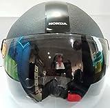 HONDA AEROSTAR Open Face Helmet Medium 600 MM, Black with Plain Visor