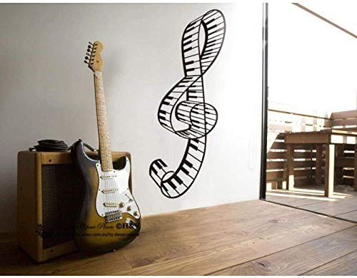 Wandaufkleber Klavier Wandtattoos DIY für Kinderzimmer Klavier Studio Dekoration Vinyl Familie Tapete Wandbild Persönlichkeit Kunst Aufkleber 60X25Cm