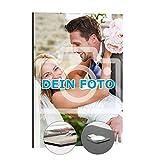 Dein Foto als Wandbild | Fotowand Maxi 30 x 45 cm Hoch | Ihre Fotos als Collage auf Premium Fotopapier mit Rasteroberfläche, auf Hartschaumplatte kaschiert, inkl. magnetischem...
