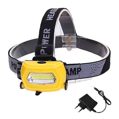 YDL LED Faro Recargable Running Faros USB 5W Faro Pesca Caminar Camping Camping Lectura Senderismo (Emitting Color : A, Plug Type : Us)