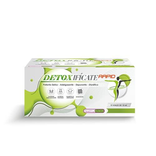 DETOX | Potente Detoxificante a base de Plantas y Vitaminas | Potente Detox, Adelgazante, Depurativo y Diurético | Cardo Mariano, Cola de Caballo, Tomillo | Elimina Toxinas | 15 viales de 10ml