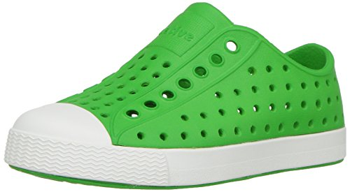 Native Shoes Baby Jefferson Child-K Sneaker, grasshopper green/shell white, 4 Medium US Toddler