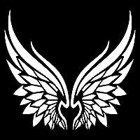 WZJH 部族の天使の翼車のステッカーファッションボディの装飾パーソナライズされたポリ塩化ビニール防水日焼け止めステッカーはカスタマイズされています (Color : White)
