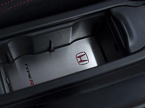 Getränkehalter Emblem Stahlabdeckung für Civic Type R IV FK2-1 Stück Kreisscheibe Platte Edelstahl Gebürstet Blenden Cockpit Dekor Mass Angefertigt