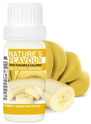 ALPHAPOWER FOOD Aromas alimentarios por repostería y bebidas I 10ml Vegano, Plátano 100% naturales con Sabor Premium I saborizante sin azucar - Flavdrops, Flavor Drops liquida