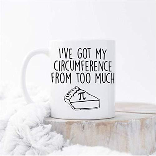 Tengo mi circunferencia de demasiada taza de Pi, taza de empollón, taza de I Love Pi, taza de café de matemáticas, tazas de matemáticas, taza de friki, regalo para nerd, taza del día de PI
