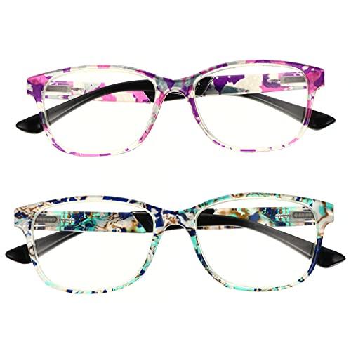 EXCEART 2 Piezas 1 Juego Cómodo Gafas Presbiopes Gafas de Lectura Moda Conveniente Gafas de Alta Definición Gafas de Bloqueo de Luz Azul para Mujeres Hombres Ancianos
