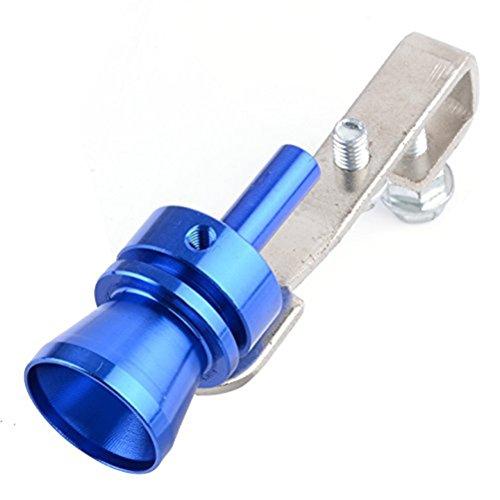 VORCOOL Auto Turbo Sound scarico fischio tubo terminale di scarico Valvola Blow-Off Simulator - taglia M (colore blu)