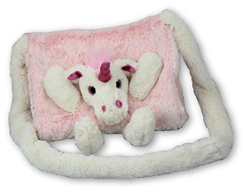 Inware Kindermuff Einhorn pink, Muff super flauschig für Kinder, 23x20cm, 6193