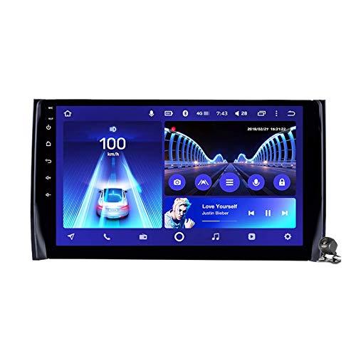 Android 9.0 Radio estéreo para automóvil compatible con Skoda Kodiaq 2017-2018 Navegación GPS Unidad principal de pantalla táctil de 9 pulgadas Reproductor multimedia MP5 Video con 4G WiFi DSP Mirror