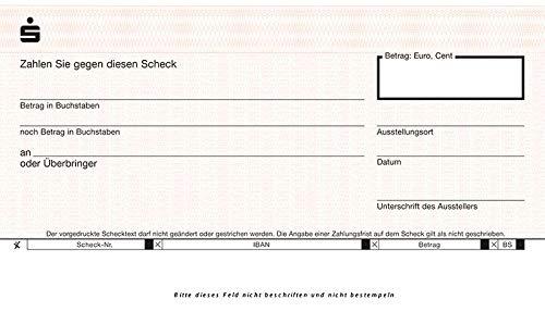 Großer Spendenscheck Geschenkscheck Riesenscheck PR-Scheck 60 x 34 cm, Übergabescheck, Sparkassen Ausführung