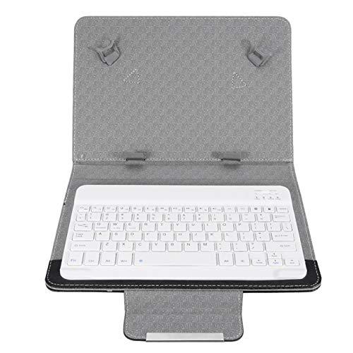 Tastatur Hülle + Wireless Bluetooth Tastatur Combo, Standfunktion Superdünn Tastatur Schutzhülle Universal Kompatibel, Drahtloser QWERTY Android Tablet Tastatur für Galaxy tab A, S2 T810 (10 Zoll)