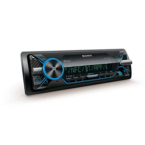 Sony DSX-A416BT Autoradio senza CD, Microfono Esterno Incluso, Illuminazione Personalizzabile 35.000 Colori, Controllo Vocale con Siri Eyes Free e Android, Dual Bluetooth, USB (iPhone/iPod), 4 x 55 W