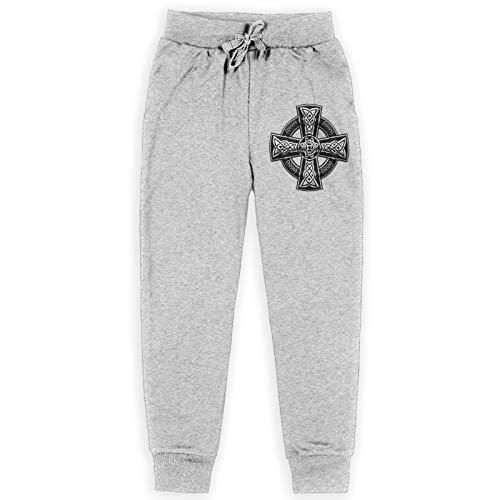 Celtic Cross Teens Sweatpants Boys Loose Jogging Pants Gray