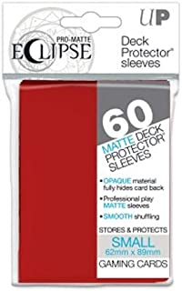 Ultra Pro 85830 Eclipse Small Pro Matte (60 Pack), Apple Red