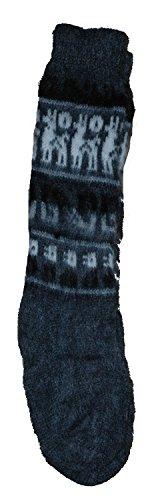 Fair Trade Unisex bolivianischen weiche Alpaka Woollen Wollsocken GRÖSSE 4-9