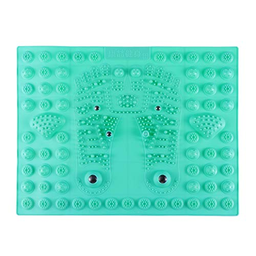 SUPVOX Acupressure Foot Mats Foot Massager Thérapie magnétique Réflexologie plantaire Tapis de massage pour le soulagement de la douleur, simule la circulation sanguine ((Vert)