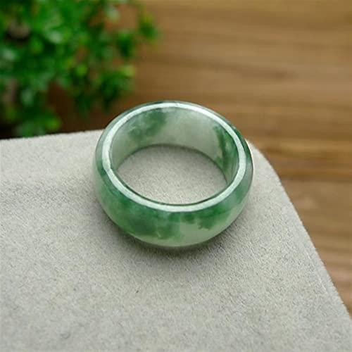 sdfpj Natural Green Hetian Jade Anillo Chino Jadeite Amuleto Moda Charm Joyería Tallado Tallado Gifts Regalos para Mujeres Hombres (Gem Color : 4, Ring Size : 11)