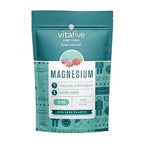 Vitafive Calm Magnesium Gummies for Adults - Natural Flavored Calm Gummies - Eco-Friendly, Vegan, Vegetarian, Allergen-Free, Kosher, Halal - for Sleep, Support (60 Gummies)