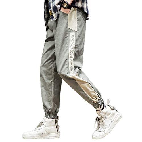 Huntrly Pantalones de chándal para Hombre Pantalones de Colores con Costura adecuados para Ejercicio y Deportes Pantalones Delgados Pantalones de Cintura elástica con cordón XXL