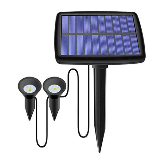 DogensHonz Luz Solar Impermeable al Aire Libre del césped La luz Solar al Aire Libre del jardín 1 sostiene 2