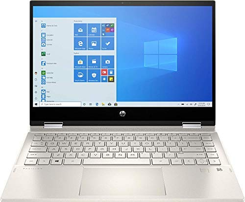 """HP Pavilion x360 2-in-1 14"""" FHD IPS WLED Touchscreen Laptop, Intel Quad-Core i5-1035G1, 8GB DDR4, 256GB PCIe SSD, Backlit KB, Fingerprint Reader, Webcam, WiFi, HDMI, Windows 10, ABYS Accessories"""