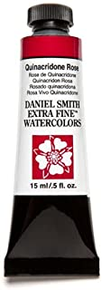 DANIEL SMITH 284600092 Extra Fine Watercolor 15ml Paint Tube, Quinacridone, Rose
