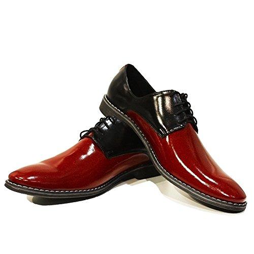 Modello Viareggio - a mano scarpe di cuoio italiane colorate Oxfords Casual Shoes formale Premium Unique pizzo regalo uomini di travestimento dell'annata delle
