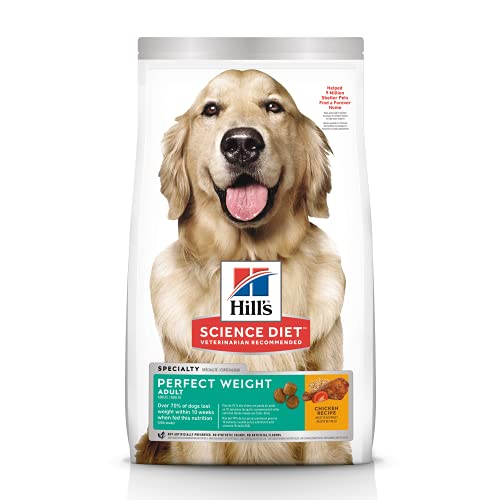 Hill's Science Diet Dry Dog Food, Adult, Perfect Weight for Healthy Weight & Weight Management, Chicken Recipe, 28.5 lb. Bag