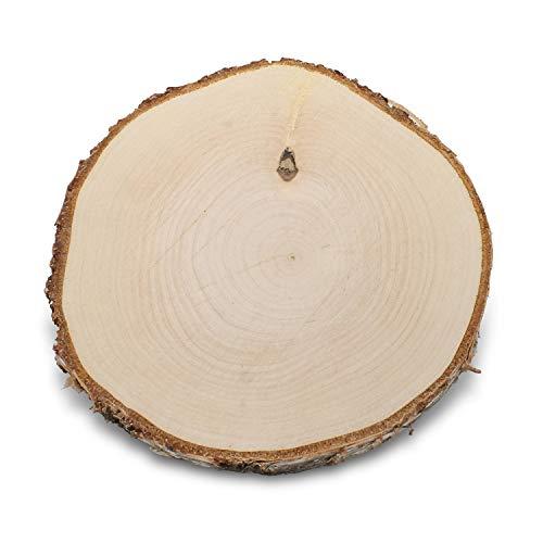 GREENHAUS XXL Birkenscheiben 20-25 cm 1 Stück geschliffen Holzscheiben Baumscheiben Baumstamm Holzdeko Basteln Holz Scheibe