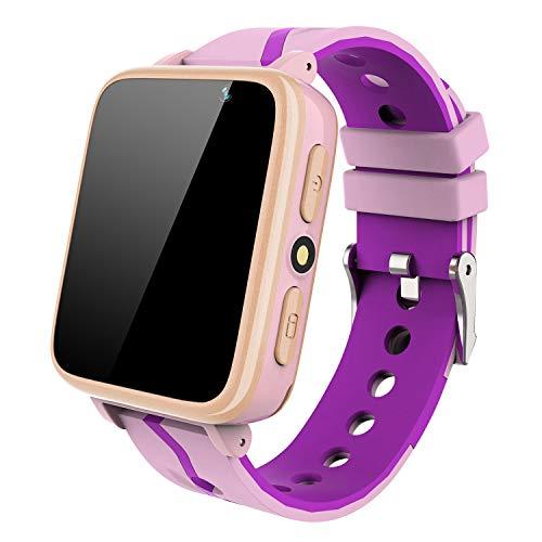 SmartWatch para Niños con Reproductor de Música - Teléfono Reloj para Niños y Niñas [1GB Micro SD Incluido] Llame a la Cámara Linterna Smart Watch Despertador FM Niño Cumpleaños Regalos (Rosa)