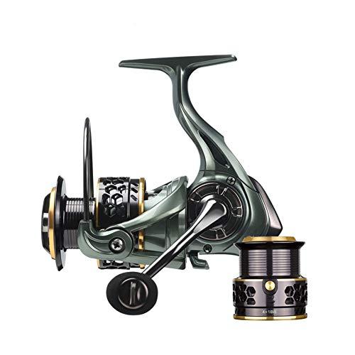 RongWang Carrete De Pesca JH3000 4000 Rotación Sin Hueco Carrete De Agua Salada Carrete De Pesca De Carpa Carrete Giratorio Carrete De Repuesto De Metal (Spool Capacity : 4000 Series)
