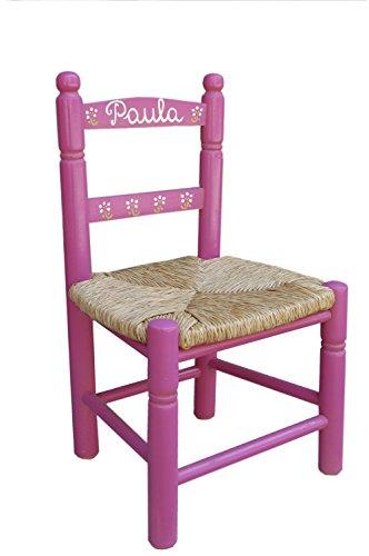 MAKONDO IMPORT-EXPORT Silla Infantil Personalizada 6 Colores 34X30X60 (Rosa)