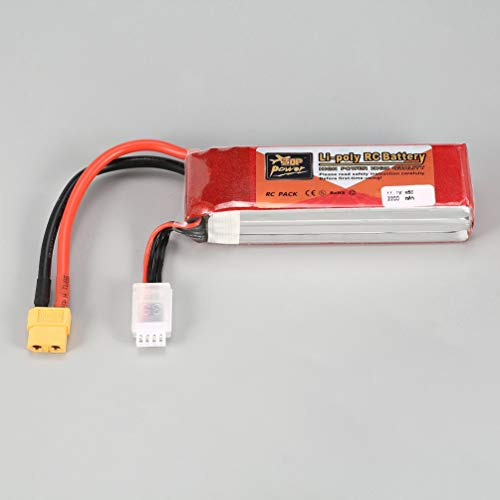 KinshopS ZOP Power 11.1V 2200mAh 45C 3S 3S1P Lipo Battery XT60 Plug Rechargeable For RC Racing Drone Helicopter Multicopter Car Model