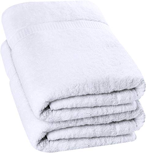 Utopia Towels Soft Cotton Machine Washable Extra Large (35-Inch-by-70-Inch) Bath Towel, White