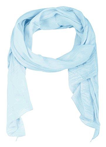 Cashmere Dreams Seiden-Tuch im Uni Design - Hochwertiger Schal für Damen Mädchen - Halstuch - Umschlagstuch - Loop - weicher Schlauchschal für Sommer Herbst und Winter Zwillingsherz - hbl