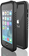 Waterproof Case for iPod 7/ iPod 6/iPod 5, DINGXIN Waterproof Shockproof Dirtproof Snowproof Case Rugged Clear Cover for iPod Touch 5th/6th/7th Generation for Snorkeling (Black, iPod Touch 7)