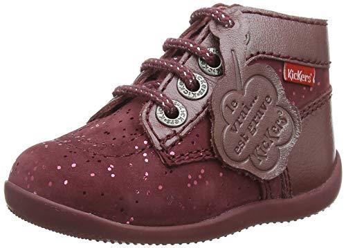 Kickers Unisex Baby Bonbon Stiefel, Pink (Rose Metallise 13), 21 EU