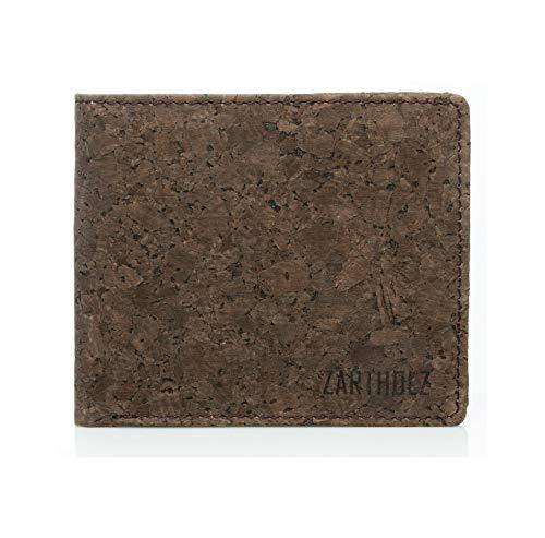 Herren Geldbörse aus Kork mit RFID Schutz - Vegan - Schmales Kork Portmonnaie - Bifold Geldbeutel - Ultraleichte Geld & Karten Brieftasche