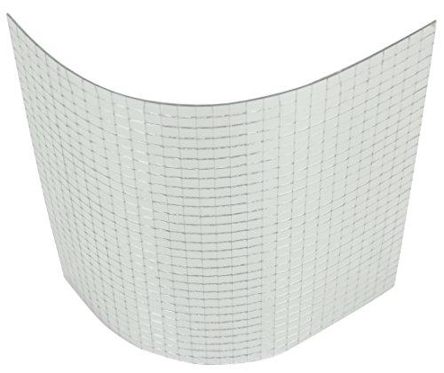 Spiegelmatten 10mm Facetten in der Größe 30 x 30cm Chrom-Silber zum Aufkleben Spiegel-Folie Deko-Spiegel Selbstklebend Wand