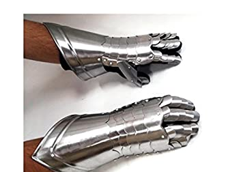 Metal Armour Hand Gloves Pair with Inviting Decor Appeal- 36302